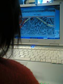 グーグルマップに夢中