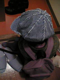 お気に入りの帽子