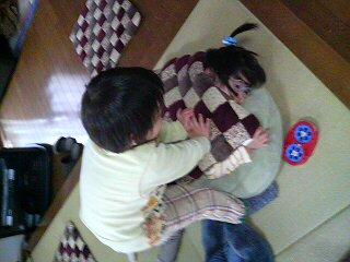 浦島太郎と亀ごっこ